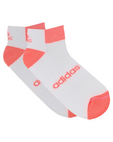 adidas Performance H Run Ankle Socks White