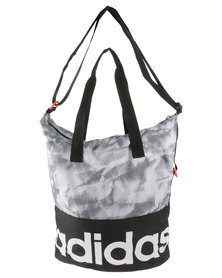adidas Performance Linear Performance Graphic Shoulder Tote Bag Grey