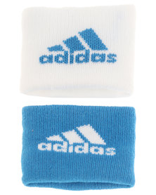 adidas Performance Sports Wristband S 2PP Blue and White