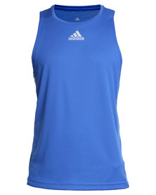 adidas Performance Sequence Climacool Run Singlet Blue