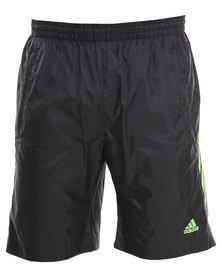 Adidas Performance Essentials 3-Stripe Shorts Black