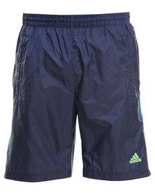 Adidas Performance Essentials 3-Stripe Shorts Blue