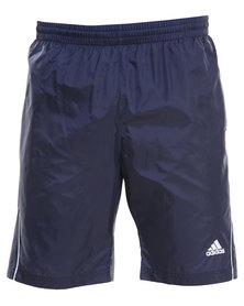 Adidas Performance Basic Piped Shorts Blue