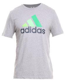 Adidas Performance Essentials Logo Tee Grey