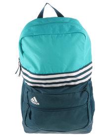 adidas Performance 3 Stripes Sport Backpack Medium Blue