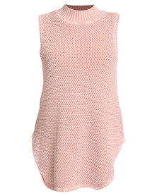 All About Eve Castro Sleeveless Knit Blush