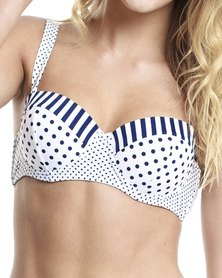 All About Eve Polka Lines Bra Top Multi