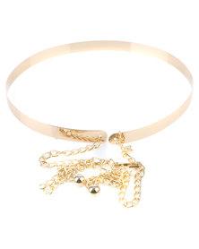 All Heart Ladies Statement Belt Gold-tone
