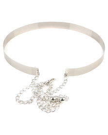 All Heart Ladies Statement Belt Silver-tone