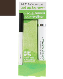 Almay Get Up & Grow Mascara Black Brown With Free 16 Hour Eyeliner