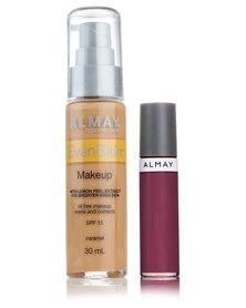 Almay EvenSkin Makeup Caramel and Free Lipgloss Just Plum Good