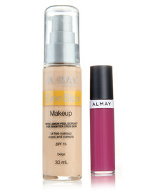 Almay EvenSkin Makeup Beige and Free Lipgloss Pink Pout
