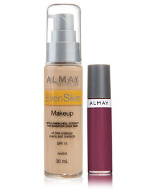 Almay EvenSkin Makeup Neutral and Free Lipgloss Just Plum