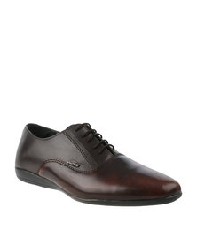 Anton Fabi Lupo Two Tone Lace Up Shoes Brown