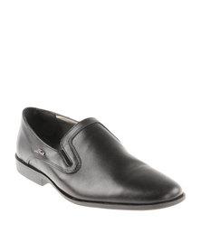 Anton Fabi Onetto Leather Slip On Shoe Black