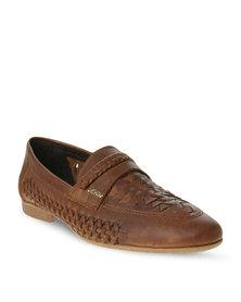 Anton Fabi Vallanco Leather Slip-On Oatmeal