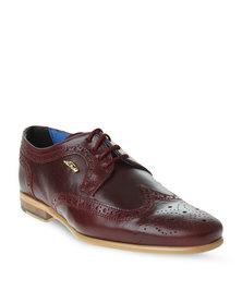 Anton Fabi Cicaro Leather Brouge Shoe Burgundy