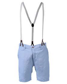 Armita Brad Burns Bermuda Shorts With Suspenders Blue