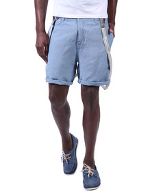 Armita Brad Burns Bermuda Shorts With Suspenders Blue