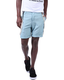 Armita Brad Burns Bermuda Shorts With Suspenders Light Blue
