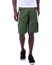 Armita Brad Burns Bermuda Shorts With Suspenders Green