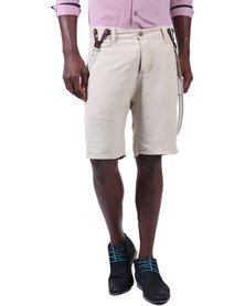Armita Brad Burns Bermuda Suspender Shorts Beige