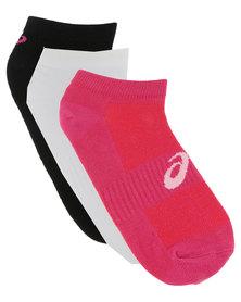 Asics 3-Pack Ped Socks Multi