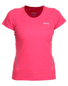 Asics Performance Short Sleeve Top Pink