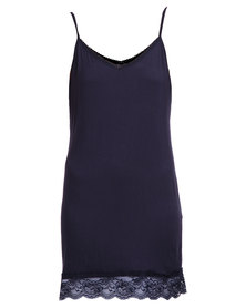 Assuili Strappy Dress Navy Blue