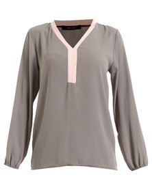 Assuili V-Neck Blouse Multi