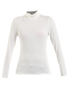 Assuili Polo Neck Top Neutral