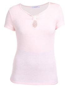 Assuili Knot Front Top Pink