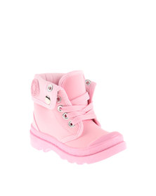 AWOL Lace-Up Boot Pink