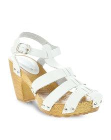 AWOL Sally Sling-Back Sandals White