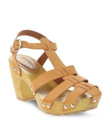 AWOL Sally Sling-Back Sandals Tan