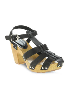 AWOL Sally Sling-Back Sandals Black