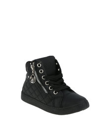 AWOL Quilted Sneaker Black