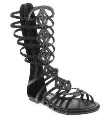AWOL Gladiator Sandals Black