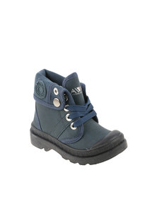 AWOL Lace Up Boot Navy Blue