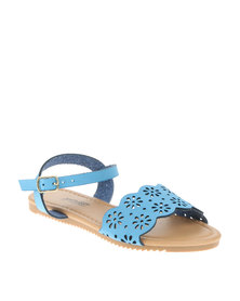 AWOL Sling Back Sandals Blue
