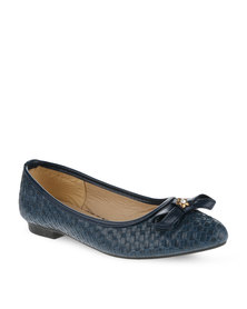 AWOL Weaved Pumps Navy
