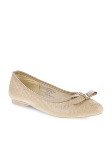 AWOL Weaved Pumps Taupe