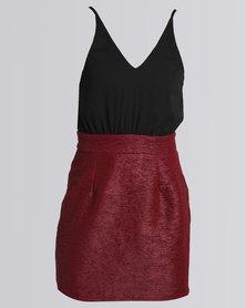 AX Paris 2 in 1 Mini Dress Red