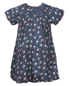 Aya Naya Frigg Floral Print Dress Blue