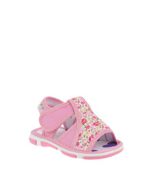 Baby Bubbles Sandal With Velcro Strap Pink