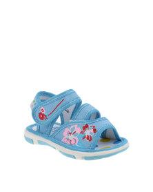 Baby Bubbles Infants Canvas Sandal Blue