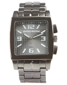 Bad Boy Analogue Square Face Watch Grey
