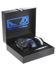 Bad Boy Naval Watch With Multiple Strap Set