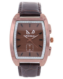 Bad Boy Rebel Analogue Strap Watch Brown