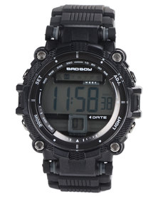 Bad Boy Digital 4 Stud Watch Black